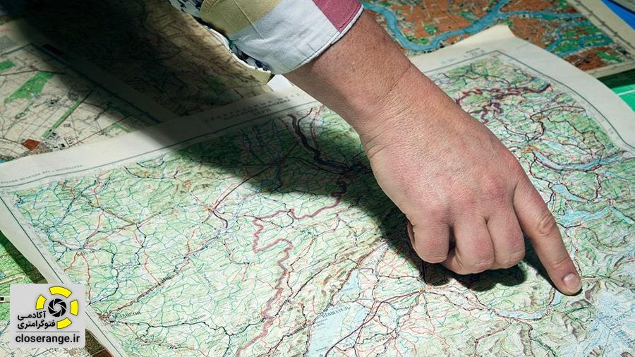 بررسی خطای نقشه